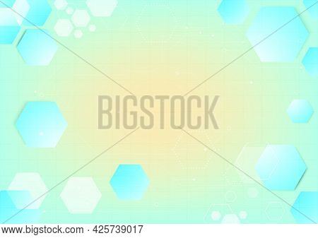 Geometric Shapes Of Science Fiction Data. Abstract Hi-tech Background. Virtual Reality High Technolo