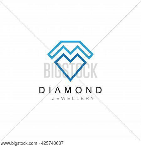 Diamond Jewellery Logo Design Vector Template