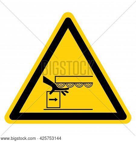 Warning Crush Hazard Symbol, Vector Illustration, Isolate On White Background Label. Eps10