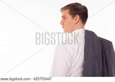 Attractive Thoughtful Businessman With Confidence And Determined Portrait Businessman From Handsome