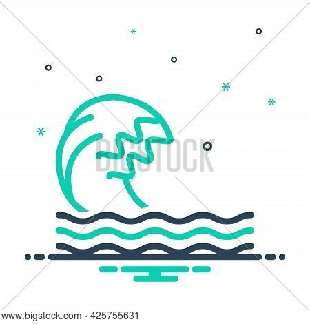 Mix Icon For Wave Ripple Backwash Surf Flood