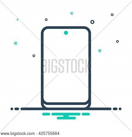 Mix Icon For Cellphone Technology Phone Touchscreen Gadget
