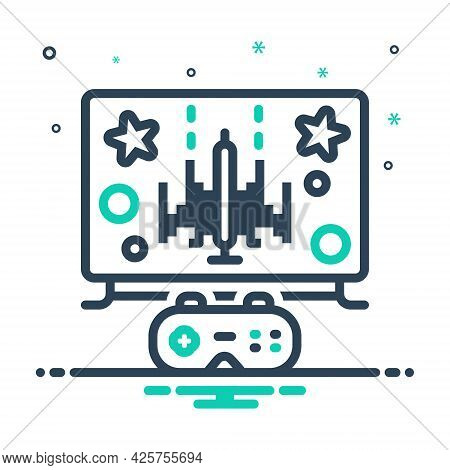 Mix Icon For Gaming Gamble Video Technology Multimedia Controller