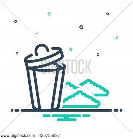 Mix Icon For Garbage Rubbish Debris Filth Squalor Mephitis Dustbin