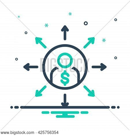 Mix Icon For Liabilities Responsibility Person Loan Debt