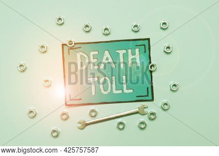 Conceptual Caption Death Toll. Business Overview The Number Of Deaths Resulting From A Particular In