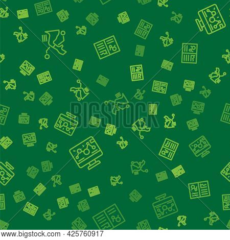 Set Line Prosthesis Hand, Genetic Engineering Modification And Clinical Record On Seamless Pattern.