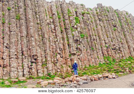 Looking Up A Natural Rock Wall