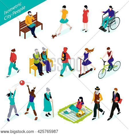 City People Icons Set. City People Vector Illustration. City People Decorative Set.  City People Des