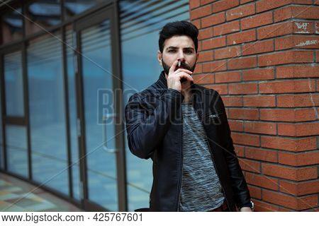 Handsome Man In Winter Coat