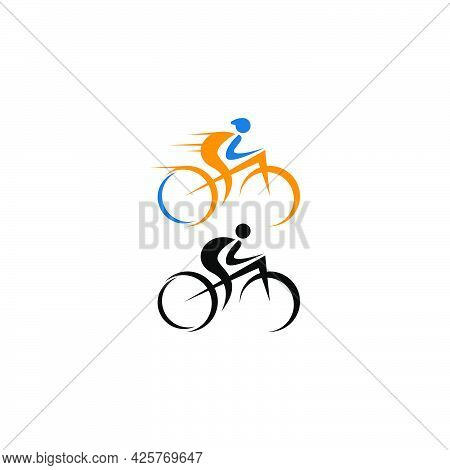 Bicycle. Bike Icon Logo Design Vector. Cycling Concept Template
