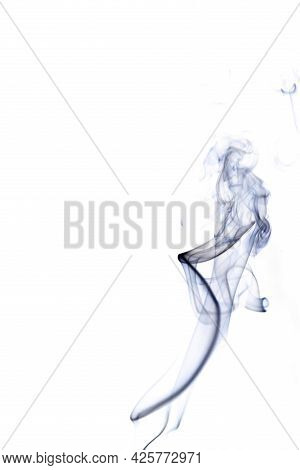 Isolated Steam. Blur  Steam Mist Cloud, Abstract Fog Or Black Smoke Isolated On White Background. Ab