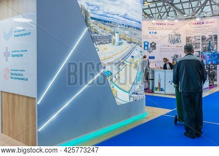 Show Stand Business: Moscow, Russia - March 04-08: Prodexpo 2020. Exhibition: Paint, Varnish. Show S