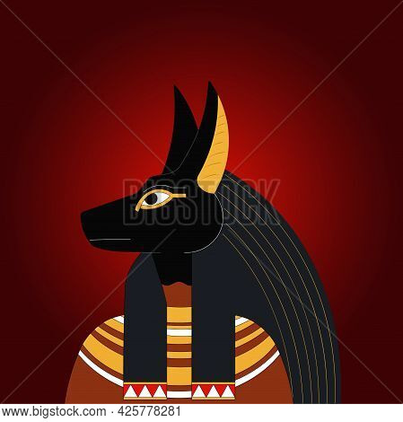 Anubis. The Egyptian God Of The Afterlife.