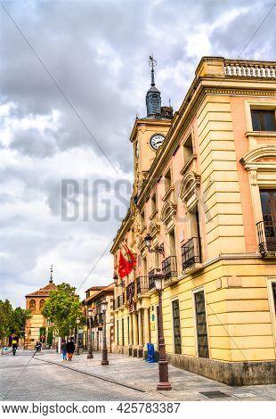 City Hall Of Alcala De Henares Near Madrid In Spain