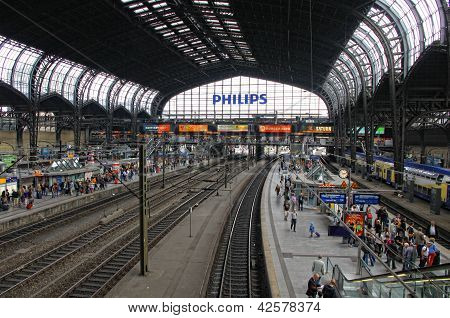 Hamburg Hauptbahnhof - Central Railway Station In Hamburg, Germany