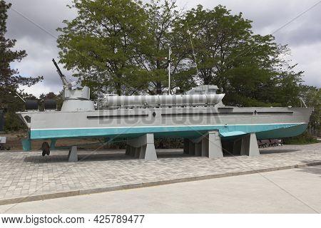 Sevastopol, Crimea, Russia - July 28, 2020: Torpedo Boat 123-k