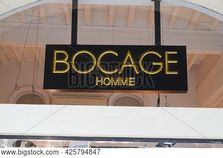 Montpellier , Ocitanie France  - 06 30 2021 : Bocage Logo Brand And Text Sign Front Of French Store