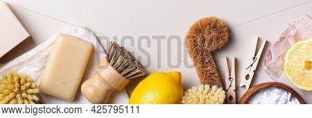 Zero Waste Set Of Plastic Free Kitchen Cleaning Utensils