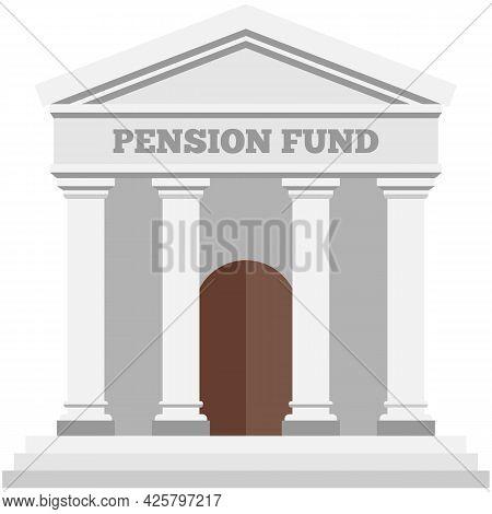 Pension Fund Vector Building Money Finance Saving