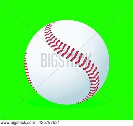 Baseball Vector Illustration On Green Background Art