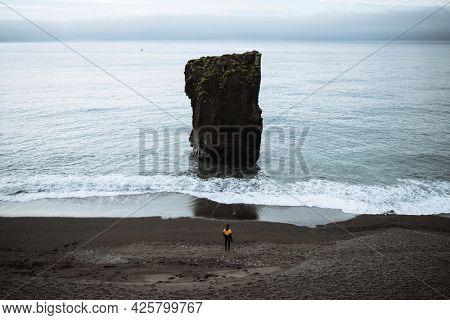View of Arnarstapi on the south coast of the Snæfellsnes Peninsula, Iceland