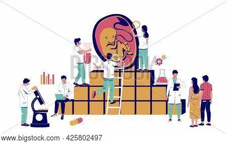 Infertility Treatment Medical Clinic. Ivf Couple Doctor Appointment. In Vitro Fertilization Pregnanc
