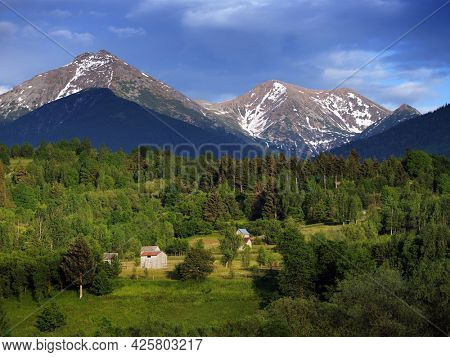 Scenic view of Rodnei mountains in Romania, Europe