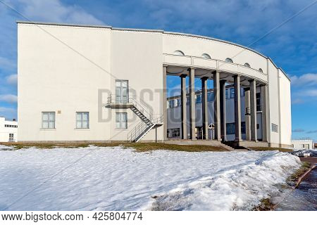 Vyborg, Leningrad Region, Russia - March 4, 2021: View Of The Hermitage-vyborg Exhibition Center. Th