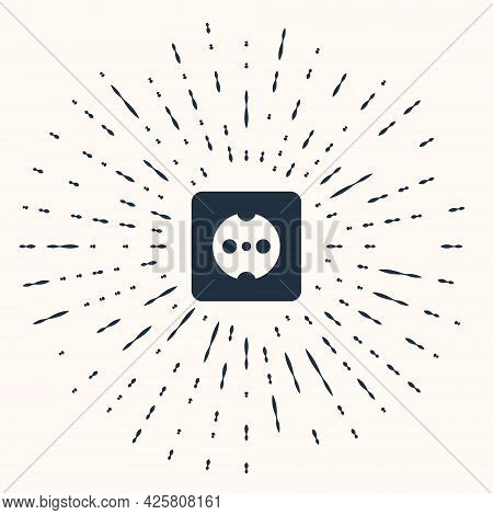 Grey Electrical Outlet Icon Isolated On Beige Background. Power Socket. Rosette Symbol. Abstract Cir