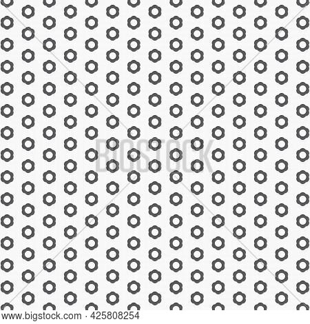 Vector Pattern. Abstract Flower Monochrome Stylish, Repeating With Small Floral.