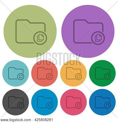 Copy Directory Darker Flat Icons On Color Round Background