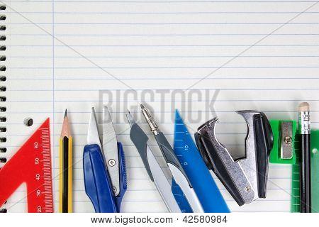 Blank Piece Of Paper School Accessories Supplies.