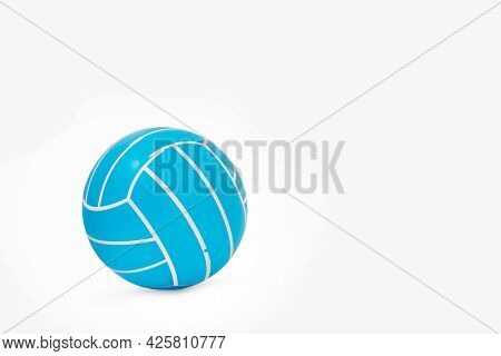 Rubber Volley Ball Isolated On A White Background With Copy Space