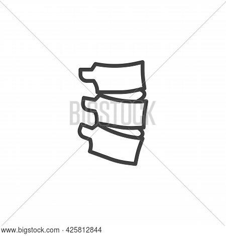Spine Backbone Line Icon. Linear Style Sign For Mobile Concept And Web Design. Human Spine Outline V