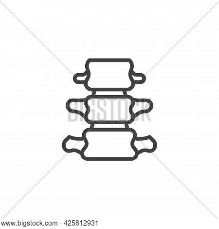 Spine Backbone Line Icon. Linear Style Sign For Mobile Concept And Web Design. Backbone Bone Outline