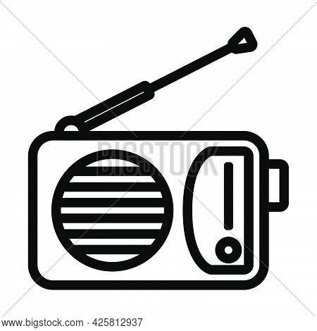 Radio Icon. Bold Outline Design With Editable Stroke Width. Vector Illustration.