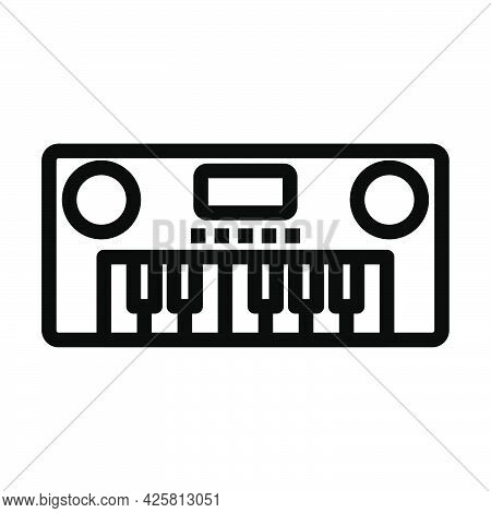 Music Synthesizer Icon. Bold Outline Design With Editable Stroke Width. Vector Illustration.