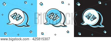 Set Rubber Flippers For Swimming Icon Isolated On Blue And White, Black Background. Diving Equipment