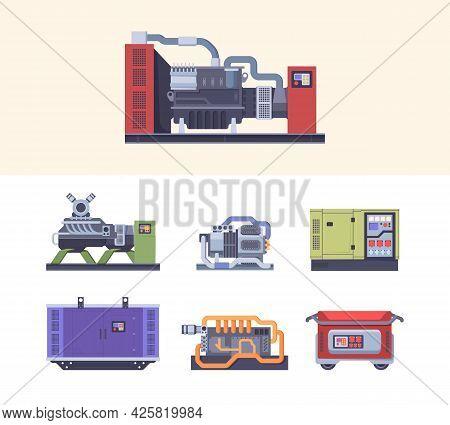Fuel Generator. Steel Industrial Electric Machines Energy Generation Maintenance Generators Garish V