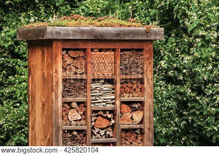 An Insect Hotel, Also Known As A Bug Hotel Or Insect House, Is A Manmade Structure Created To Provid