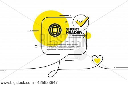 Seo Target Icon. Continuous Line Check Mark Chat Bubble. Search Engine Optimization Sign. Internet S