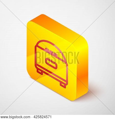 Isometric Line Stereo Speaker Icon Isolated On Grey Background. Sound System Speakers. Music Icon. M