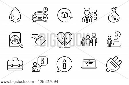 Business Icons Set. Included Icon As Analytics Graph, Loan, Web Lectures Signs. Return Package, Thir