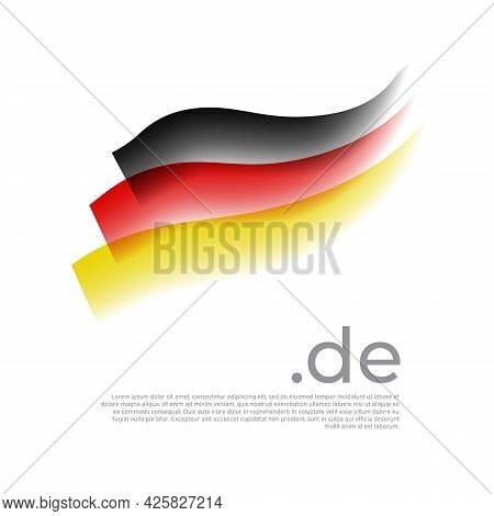 German Watercolor Flag. Stripes In Colors Of Flag Of Germany On A White Background. Vector National
