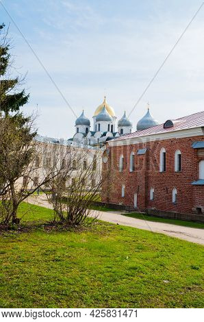 Veliky Novgorod Russia.st Sophia Cathedral And Archbishop's Palace, The Palace Of Facets Museum On T