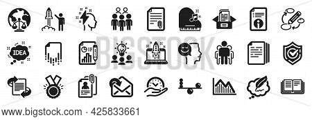 Set Of Education Icons, Such As Group People, Documents Box, Recovery File Icons. Honor, Confirmed,