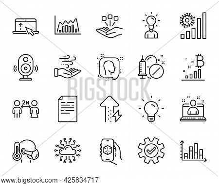 Vector Set Of Bitcoin Graph, Best Manager And Consolidation Line Icons Set. 3d App, Document And Edu