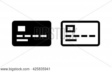 Pay Card Nfc Payment Contactless Pass . Modern Contactless Symbol Icon Line Vector Glyph Stroke Illu