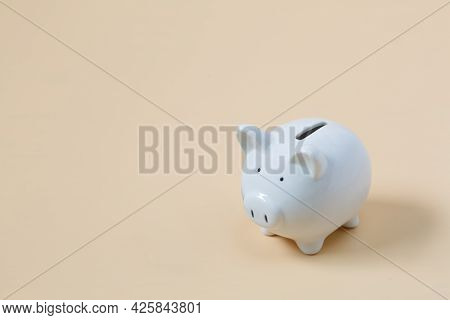 Piggy Bank And Coins On The Pink Background Saving Investment Budget Wealth Business Retirement, Fin